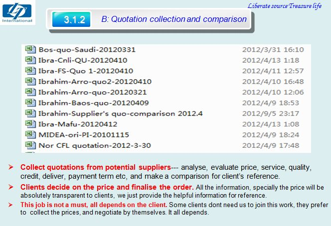 Service B-quotation collection & comparison