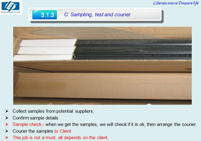 Service C-sampling,test and courier